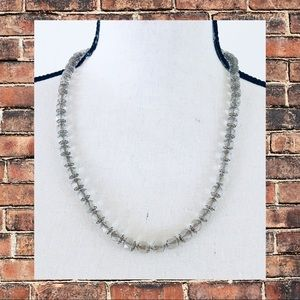 Vintage Faceted Glass Bead Necklace 21 Inches
